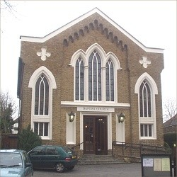 The church building, completed 1843